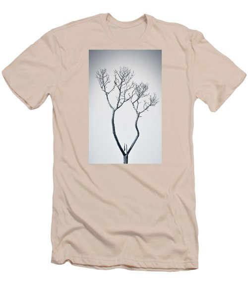 Wishbone Tree Men's T-Shirt (Slim Fit) by Carolyn Marshall