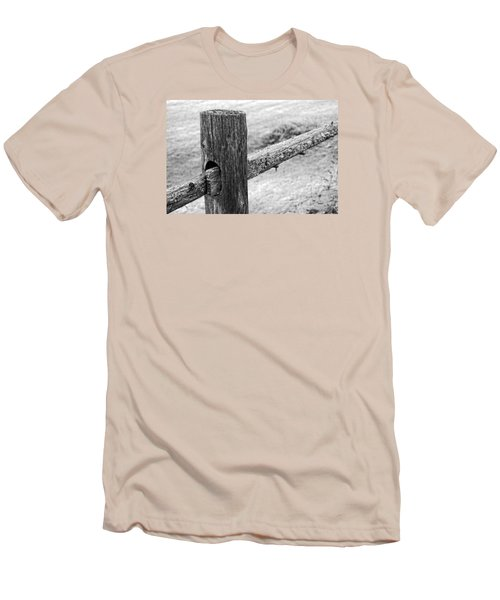 Wood Railing Men's T-Shirt (Athletic Fit)