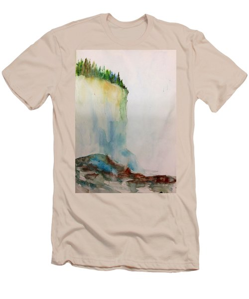 Woodland Trees On A Cliff Edge Men's T-Shirt (Athletic Fit)