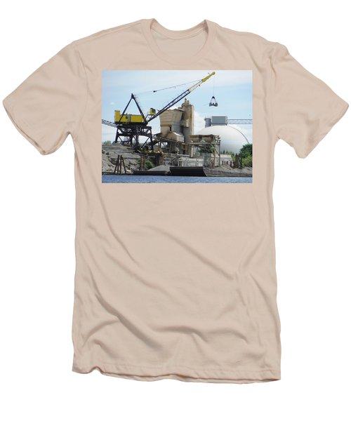 Yellow Crane Men's T-Shirt (Athletic Fit)