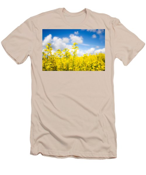 Yellow Mustard Field Men's T-Shirt (Athletic Fit)