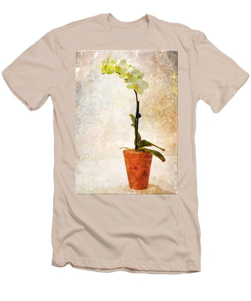 Men's T-Shirt (Slim Fit) featuring the photograph Yellow Orchid by Patti Deters
