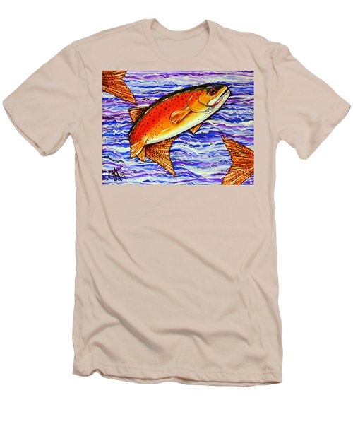 Yellowstone Cutthroat Men's T-Shirt (Slim Fit) by Jackie Carpenter
