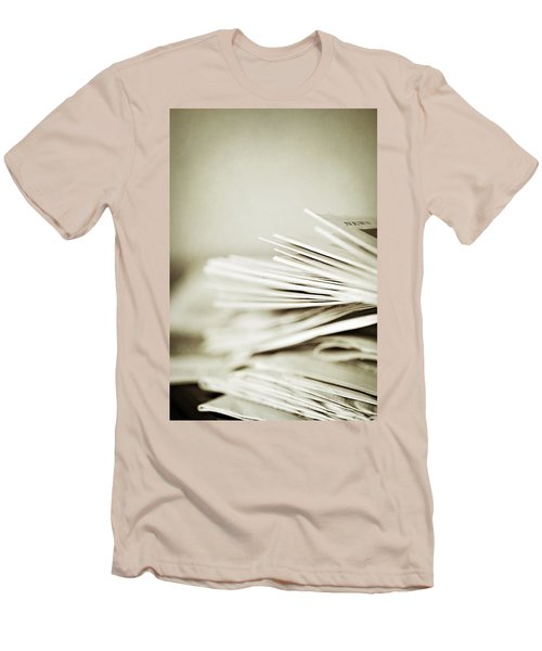 Men's T-Shirt (Slim Fit) featuring the photograph Yesterday's News by Trish Mistric