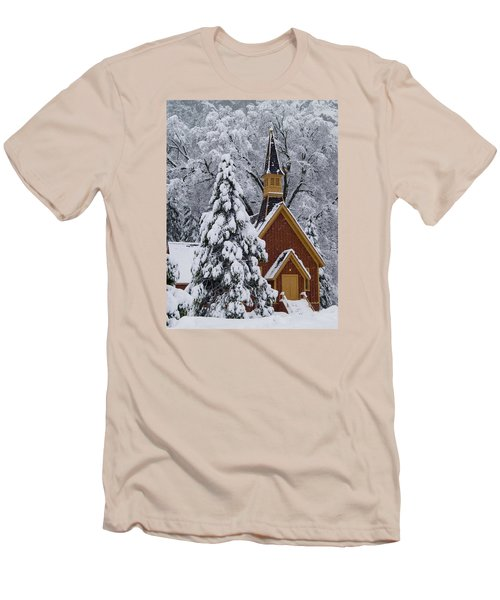 Yosemite Chapel Men's T-Shirt (Slim Fit) by Bill Gallagher