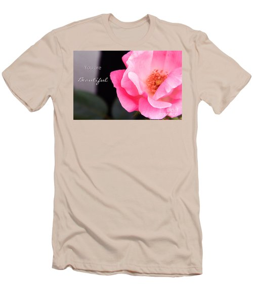 You Are Beautiful Men's T-Shirt (Athletic Fit)