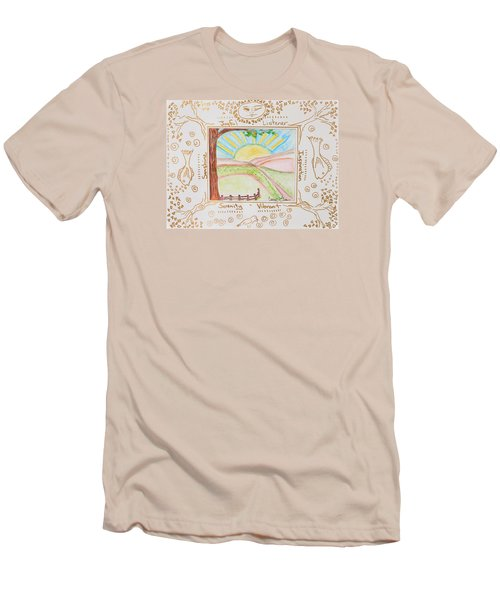 Men's T-Shirt (Slim Fit) featuring the painting You Are My Sunshine by Cassie Sears