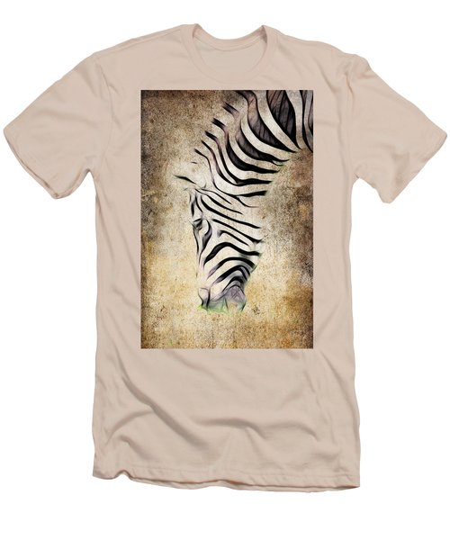 Zebra Fade Men's T-Shirt (Slim Fit) by Steve McKinzie