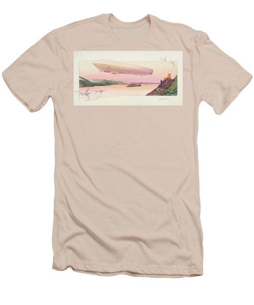 Zeppelin, Published Paris, 1914 Men's T-Shirt (Slim Fit) by Ernest Montaut