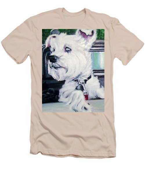 Zoey Waits For A Ride Men's T-Shirt (Slim Fit) by Martha Suhocke