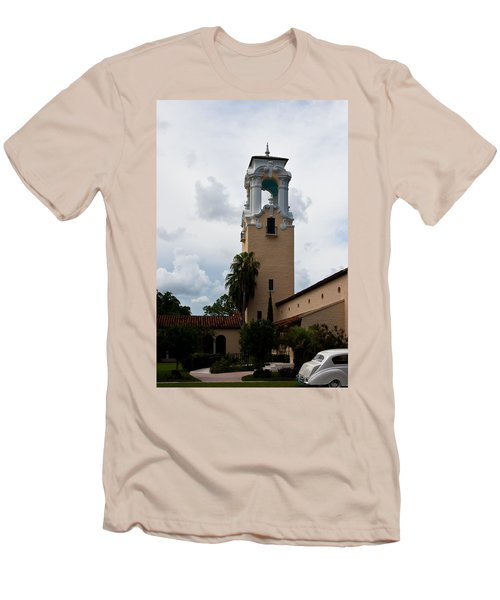 Men's T-Shirt (Slim Fit) featuring the photograph Congregational Church Tower by Ed Gleichman