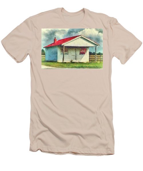 Men's T-Shirt (Slim Fit) featuring the painting Royster Fertilizers  by Lynne Jenkins