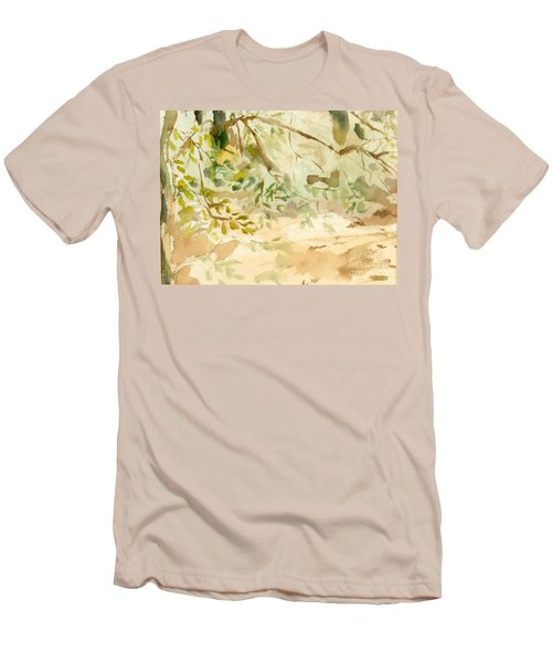Men's T-Shirt (Slim Fit) featuring the painting The Breeze Between by Daun Soden-Greene