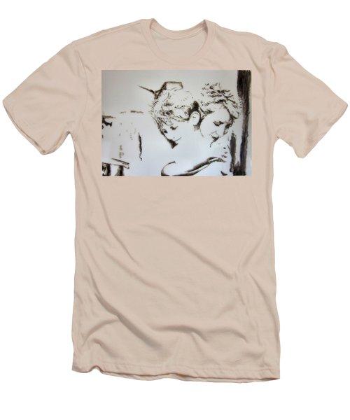 A Loving Hug Men's T-Shirt (Slim Fit) by Maris Sherwood