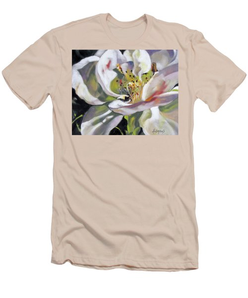 Men's T-Shirt (Slim Fit) featuring the painting A Rose By Any Other Name by Rae Andrews