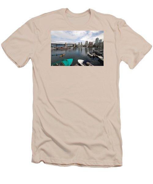 Men's T-Shirt (Slim Fit) featuring the photograph Across False Creek by John Schneider