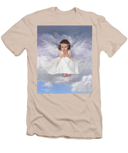 Men's T-Shirt (Slim Fit) featuring the painting Angel 2 by Rob Corsetti
