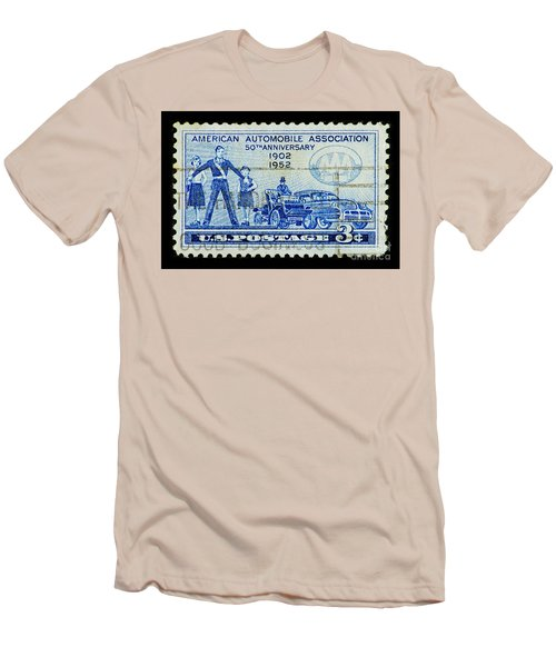 Men's T-Shirt (Slim Fit) featuring the photograph Automobile Association Of America by Andy Prendy
