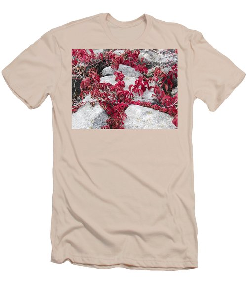 Autumn Color Is Red Men's T-Shirt (Athletic Fit)