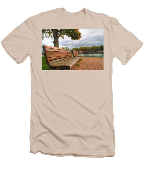 Men's T-Shirt (Slim Fit) featuring the photograph Awaiting by Michael Frank Jr