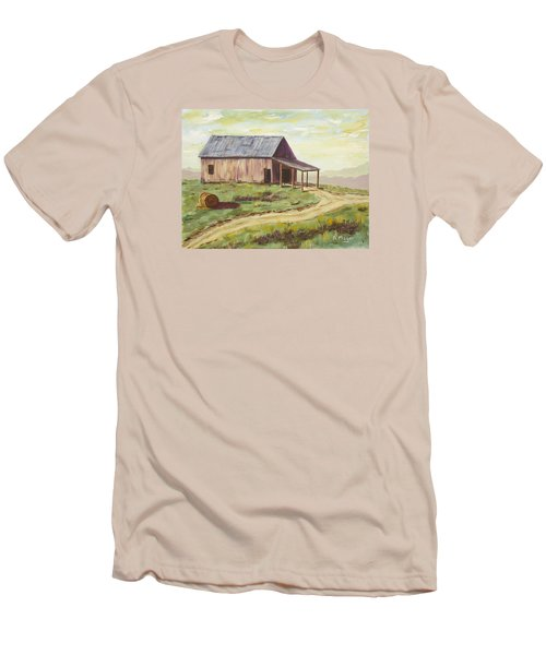 Barn On The Ridge Men's T-Shirt (Slim Fit) by Alan Mager