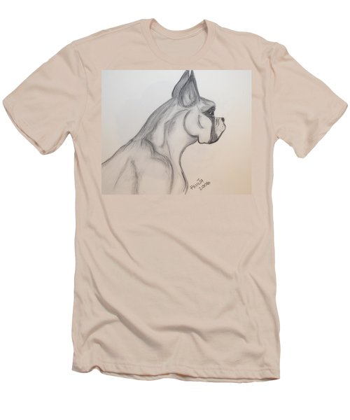 Men's T-Shirt (Slim Fit) featuring the drawing Big Boxer by Maria Urso