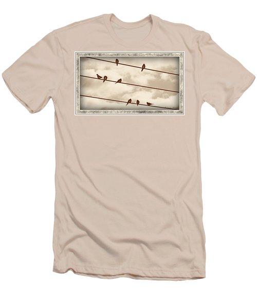 Birds On Wires Men's T-Shirt (Slim Fit)