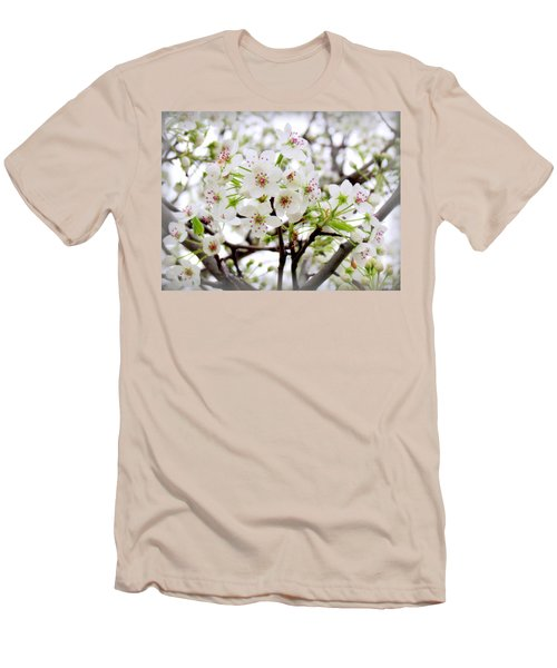 Men's T-Shirt (Slim Fit) featuring the photograph Blooming Ornamental Tree by Kay Novy