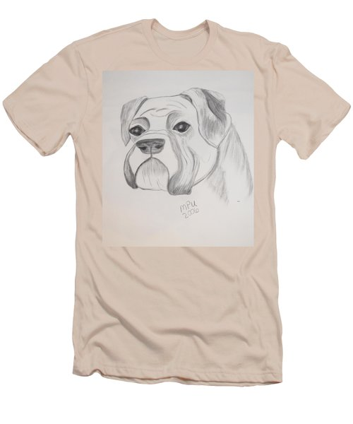 Men's T-Shirt (Slim Fit) featuring the drawing Boxer No Crop by Maria Urso