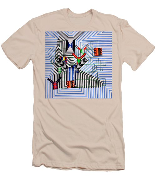 Men's T-Shirt (Slim Fit) featuring the painting Burwood Breeze by Mark Howard Jones
