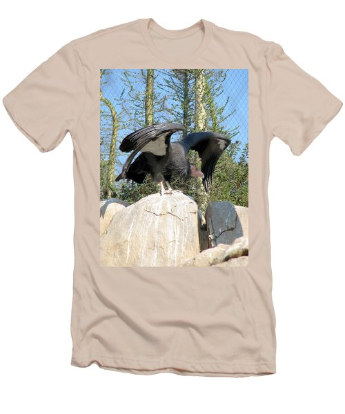 California Condor Men's T-Shirt (Slim Fit) by Carla Parris