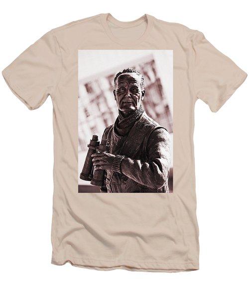 Men's T-Shirt (Slim Fit) featuring the photograph Captain F J Walker by Meirion Matthias