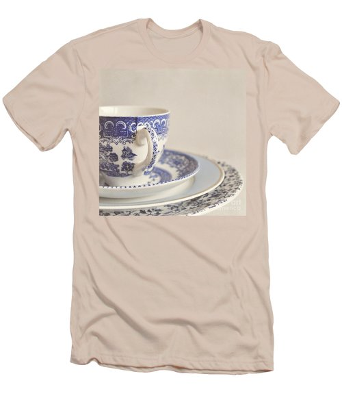 China Cup And Plates Men's T-Shirt (Slim Fit) by Lyn Randle