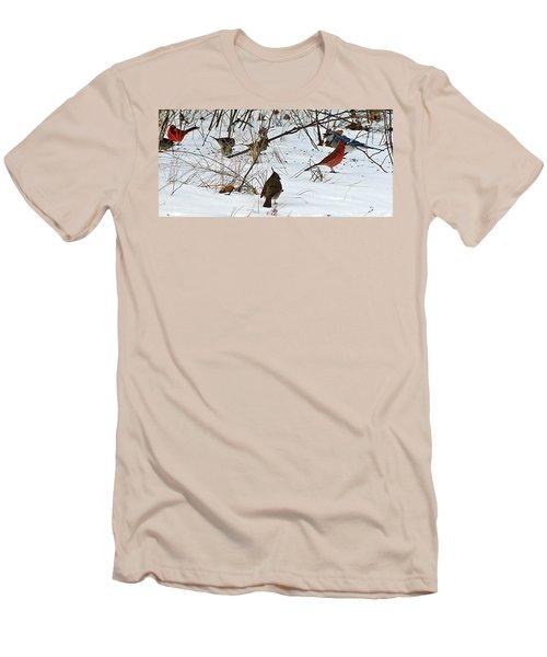 Christmas Feast Men's T-Shirt (Slim Fit) by Joe Faherty
