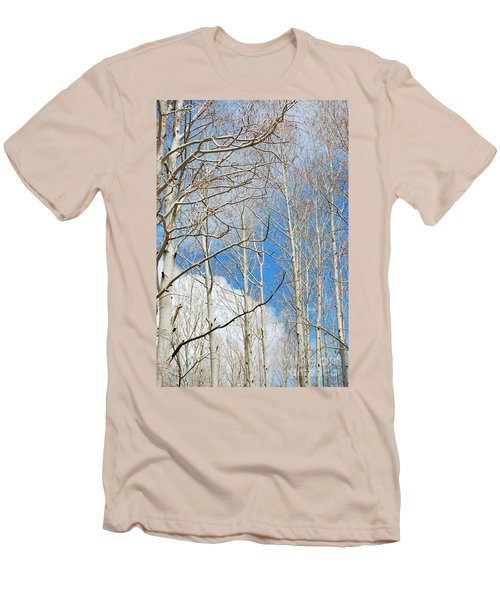 Cloudy Aspen Sky Men's T-Shirt (Athletic Fit)