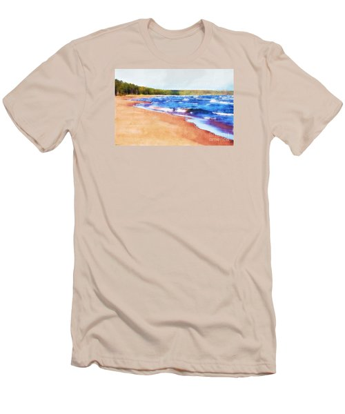 Men's T-Shirt (Slim Fit) featuring the photograph Colors Of Water by Phil Perkins