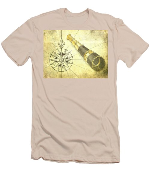 Compass And Monocular Men's T-Shirt (Athletic Fit)