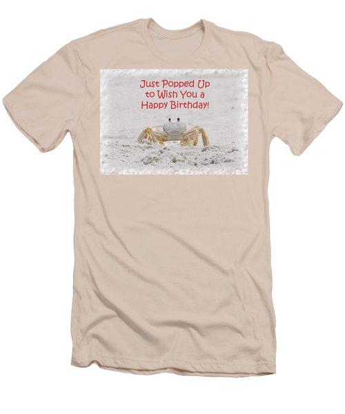 Crab Happy Birthday Men's T-Shirt (Slim Fit) by Judy Hall-Folde