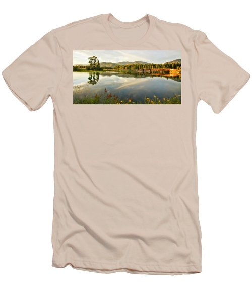 Deer Island Bridge Men's T-Shirt (Slim Fit) by Albert Seger