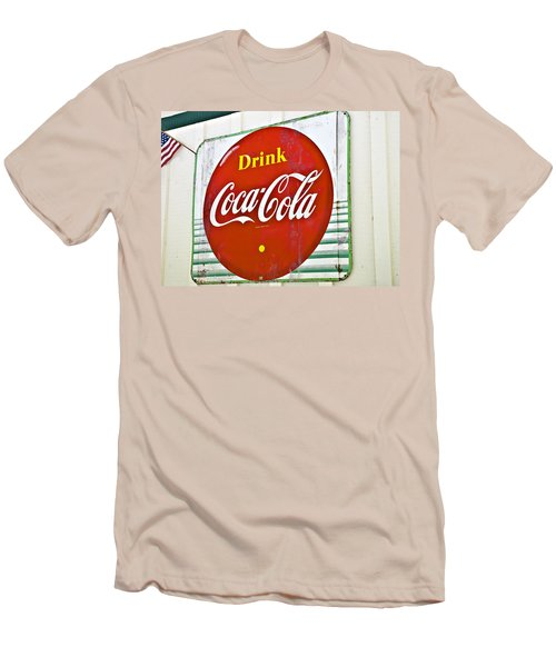 Drink Coca Cola Men's T-Shirt (Athletic Fit)