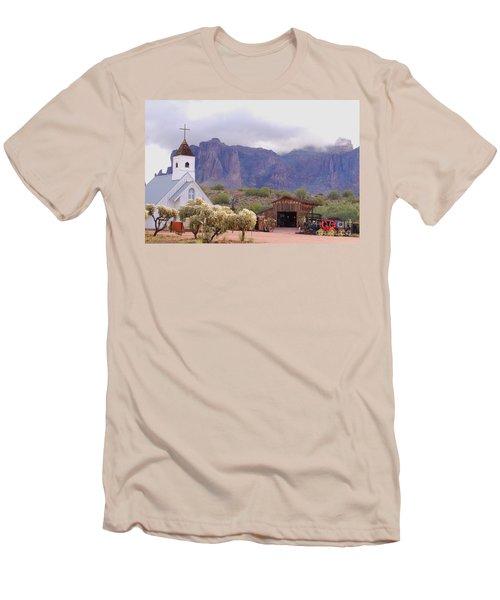 Men's T-Shirt (Slim Fit) featuring the photograph Elvis Memorial Chapel by Tam Ryan