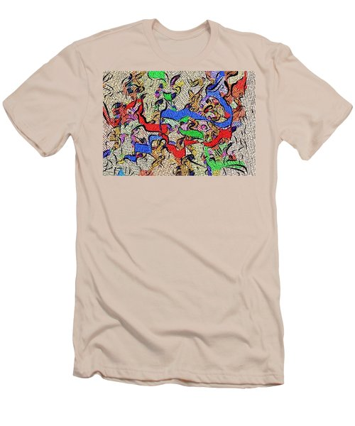 Men's T-Shirt (Slim Fit) featuring the digital art Fabric Of Life by Alec Drake