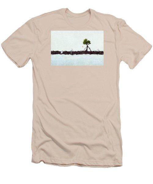 Men's T-Shirt (Slim Fit) featuring the photograph Falling Mangrove Leaf by Dan Friend