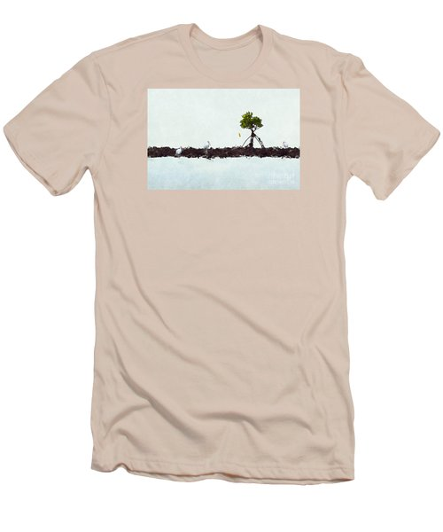 Falling Mangrove Leaf Men's T-Shirt (Athletic Fit)