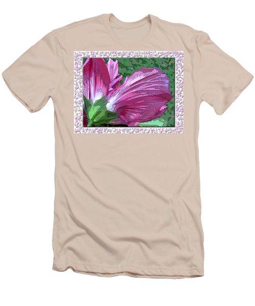 Men's T-Shirt (Slim Fit) featuring the digital art Fancy Finish by Debbie Portwood