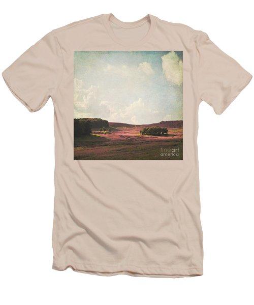Fields Of Heather Men's T-Shirt (Slim Fit) by Lyn Randle