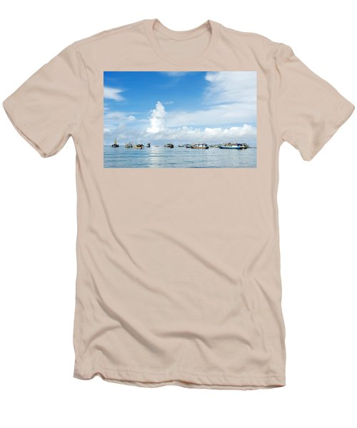 Fishing Boat Men's T-Shirt (Slim Fit) by Yew Kwang