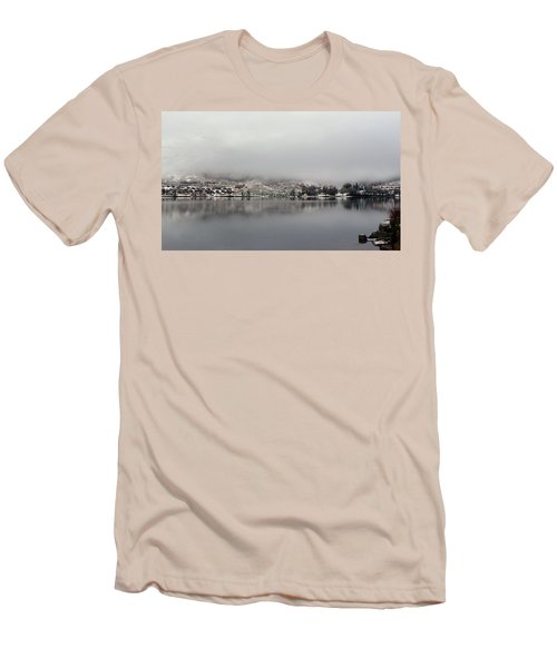 Men's T-Shirt (Slim Fit) featuring the photograph Fog On The Loch by Lynn Bolt