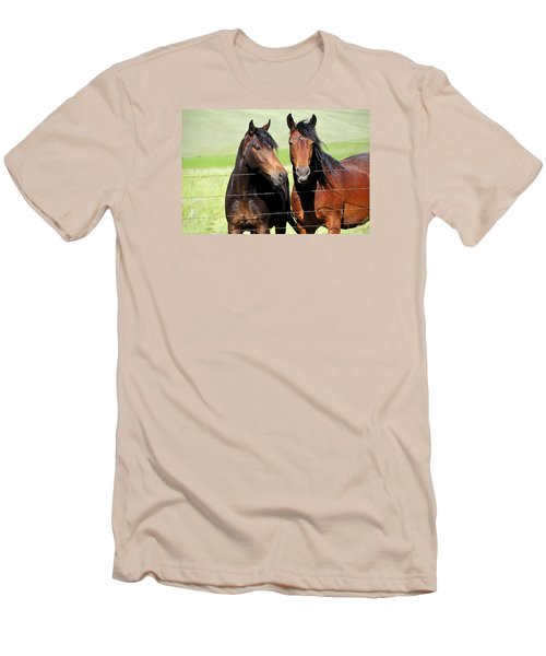 Men's T-Shirt (Slim Fit) featuring the photograph Friends by Fran Riley