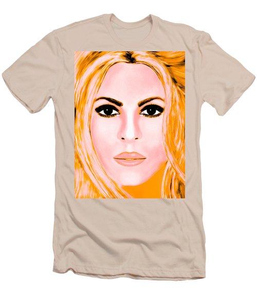 Gold Shakira Men's T-Shirt (Slim Fit) by Mathieu Lalonde